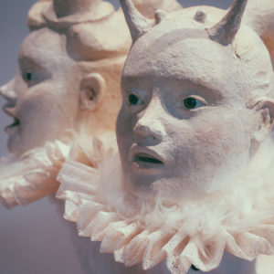 escultura con papel